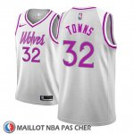 Maillot Minnesota Timberwolves Karl Anthony Towns No 32 Earned 2018-19 Gris