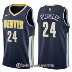 Maillot Denver Nuggets Mason Plumlee Icon 24 2017-18 Bleu