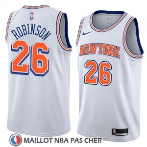 Maillot New York Knicks Mitchell Robinson No 26 Statement 2018 Blanc