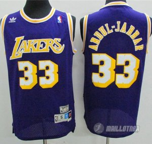 Maillot Los Angeles Lakers retro abdul-jabbar #33 Violet