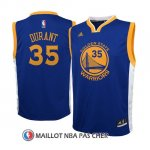 Maillot Authentique Enfant Golden State Warriors Durant 35 Bleu