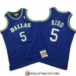 Maillot Dallas Mavericks Jason Kidd Mitchell & Ness Hardwood Classics Bleu