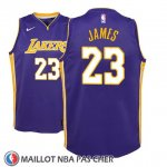 Maillot Enfant Los Angeles Lakers Lebron James No 23 Statement 2017-18 Volet