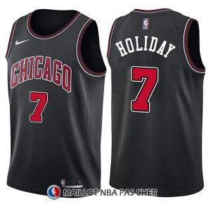 Maillot Chicago Bulls Justin Holiday Statement 7 2017-18 Noir