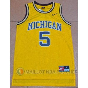 Maillot Rose Michigan University #5 Jaune