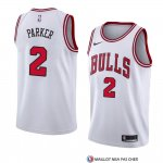 Maillot Chicago Bulls Jabari Parker Association 2018 Blanc