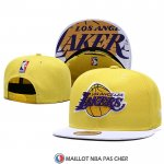 Casquette Los Angeles Lakers 9FIFTY Snapback Jaune Blanc