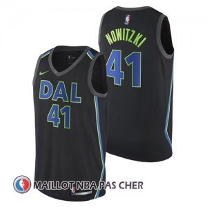 Maillot Dallas Mavericks 41 Ciudad 2017-18 Noir