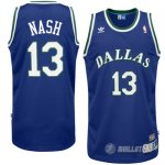 Maillot Dallas Mavericks retro Nash #13 Bleu