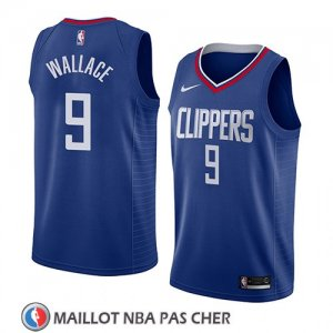 Maillot Los Angeles Clippers Tyrone Wallace No 9 Icon 2018 Bleu