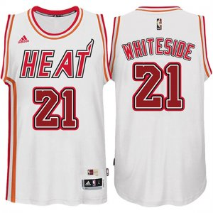 Maillot Retro Heat Whiteside 21 Blanc