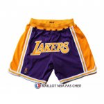 Short Los Angeles Lakers Jaune Volet