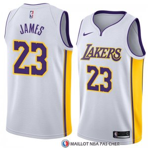 Maillot Los Angeles Lakers Lebron James 23 Association 2017-18 Blanc