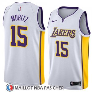Maillot Los Angeles Lakers Wagner Moritz No 15 Association 2018 Blanc