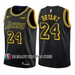 Maillot Enfant Los Angeles Lakers Kobe Bryant Ville 2017-18 Noir