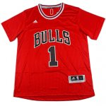 Maillot Authentic Manche Courte Bulls Rose 1 Rouge