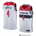 Maillot Washington Wizards Chris Chiozza Association 2018 Blanc