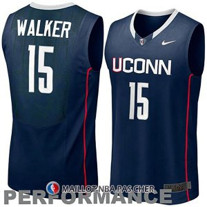 Maillot NCAA Connecticut Walker 15 Bleu