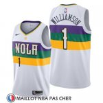 Maillot New Orleans Pelicans Zion Williamson Ciudad 2019-20 Blanc