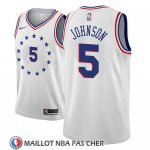 Maillot Philadelphia 76ers Amir Johnson Earned 2018-19 Gris