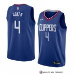 Maillot Los Angeles Clippers Jamychal Vert Icon 2018 Bleu