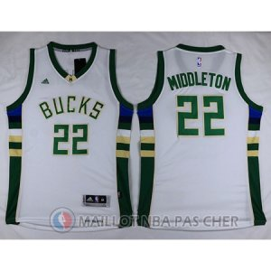 Maillot Blanc Middleton Milwaukee Bucks Revolution 30