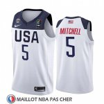 Maillot USA Donovan Mitchell 2019 FIBA Basketball World Cup Blanc