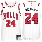 Maillot Authentique Chicago Bulls Markkanen 2017-18 24 Blanc