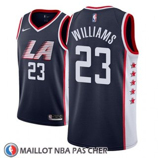 Maillot Los Angeles Clippers Lou Williams No 23 Ciudad 2018-19 Bleu