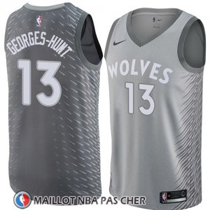 Maillot Minnesota Timberwolves Marcus Georges-hunt No 13 Ciudad 2018 Gris