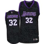 Maillot Crazy Light Leopard Lakers Johnson 32 Noir