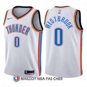 Maillot Enfant Oklahoma City Thunder Russell Westbrook Association 2017-18 0 Blanc