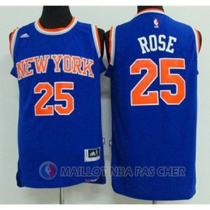 Maillot New York Knicks Rose 25# Bleu