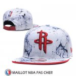 Casquette Houston Rockets Snapback Blanc