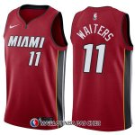 Maillot Miami Heat Dion Waiters Statehombret 11 2017-18 Rouge