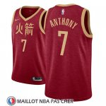 Maillot Houston Rockets Carmelo Anthony No 7 Ciudad 2018-19 Rouge