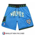 Short Minnesota Timberwolves Mitchell And Ness Jsut Don Bleu