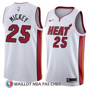 Maillot Miami Heat Jordan Mickey No 25 Association 2018 Blanc