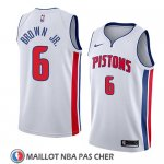 Maillot Detroit Pistons Bruce Brown Jr. No 6 Association 2018 Blanc