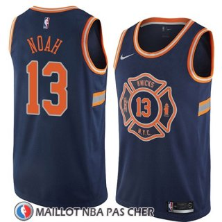 Maillot New York Knicks Joakim Noah No 13 Ciudad 2018 Bleu