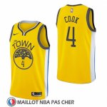 Maillot Golden State Warriors Quinn Cook Earned 2018-19 Jaune
