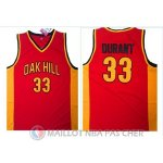 Maillot NBA NCAA Ecole Secondaire Durant 33# Rouge
