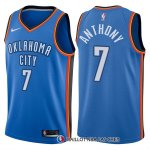 Maillot Authentique Oklahoma City Thunder Anthony 2017-18 7 Bleu
