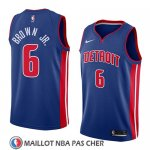 Maillot Detroit Pistons Bruce Brown Jr. No 6 Icon 2018 Bleu