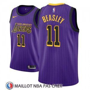Maillot Los Angeles Lakers Michael Beasley No 11 Ciudad 2018 Volet