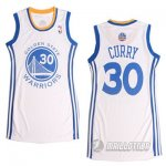 Maillot Femme de Curry Golden State Warriors #30 Blanc