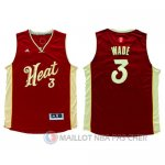 Maillot Miami Heat Wade Noël #3 Rouge