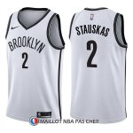 Maillot Brooklyn Nets Nik Stauskas Association 2 2017-18 Blanc