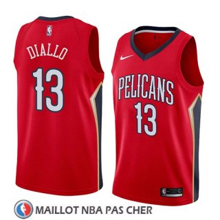 Maillot New Orleans Pelicans Cheick Diallo No 13 Statement 2018 Rouge
