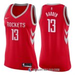 Maillot Femme Houston Rockets James Harden Icon 2017-18 13 Rouge
